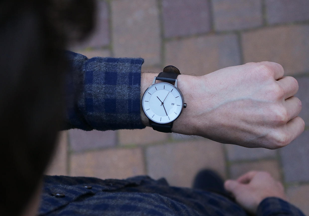 Wearing Linjer mens watch
