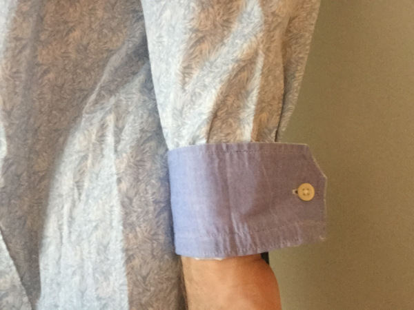 Faux French cuff sleeve roll