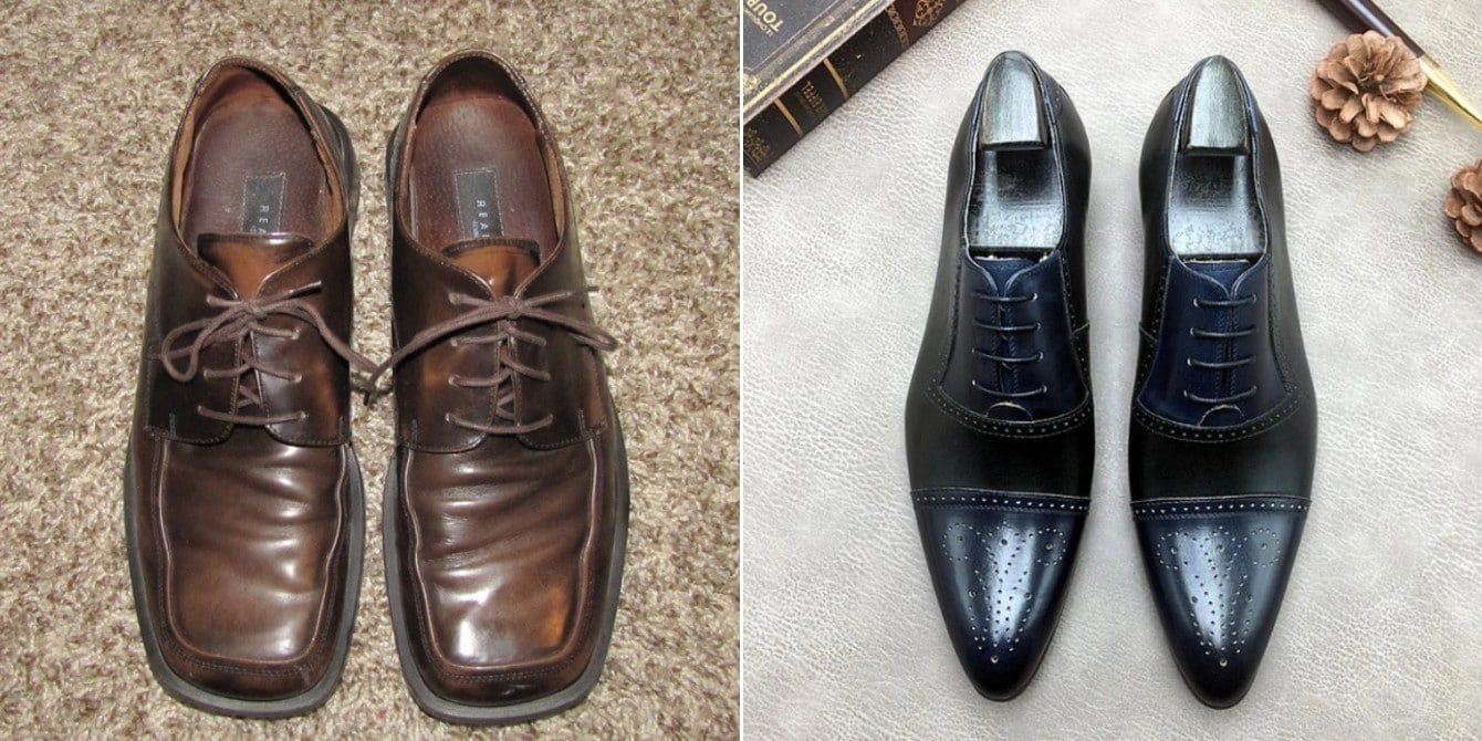 Square and pointy toe shoes
