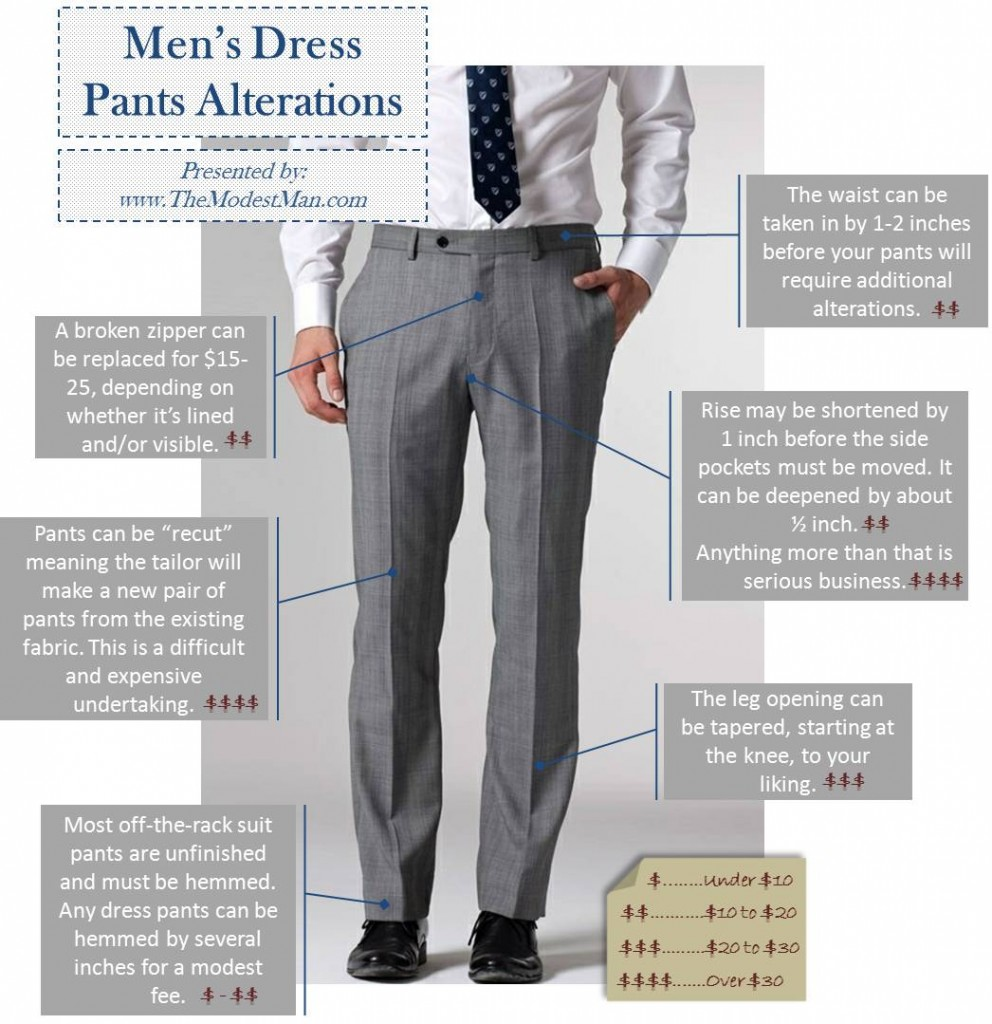 Men's Dress Pants Alterations