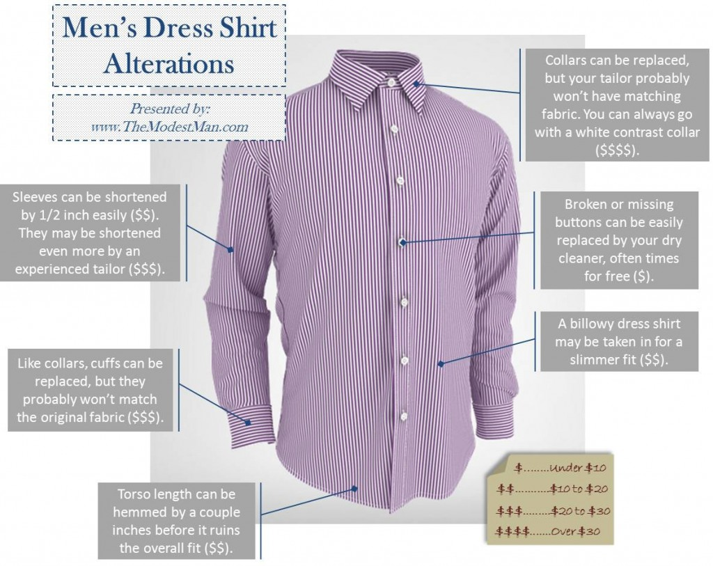 Men's Dress Shirt Alterations