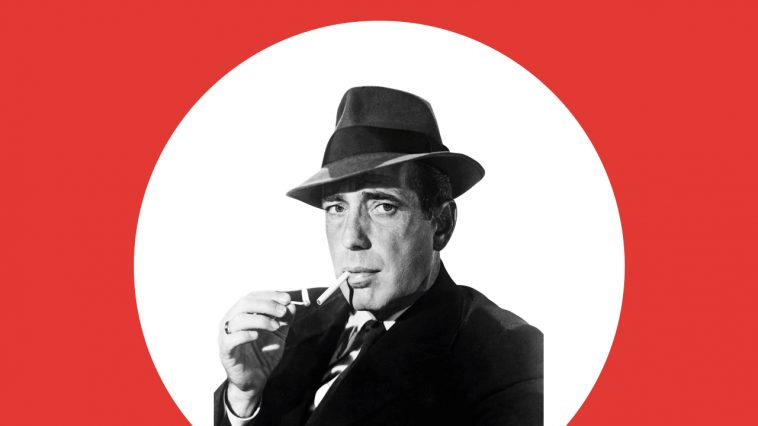 Humphrey Bogart in hat and suit