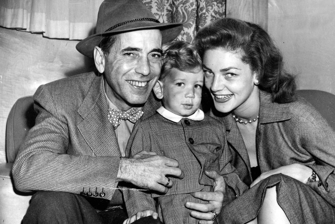 Humphrey Bogart with family