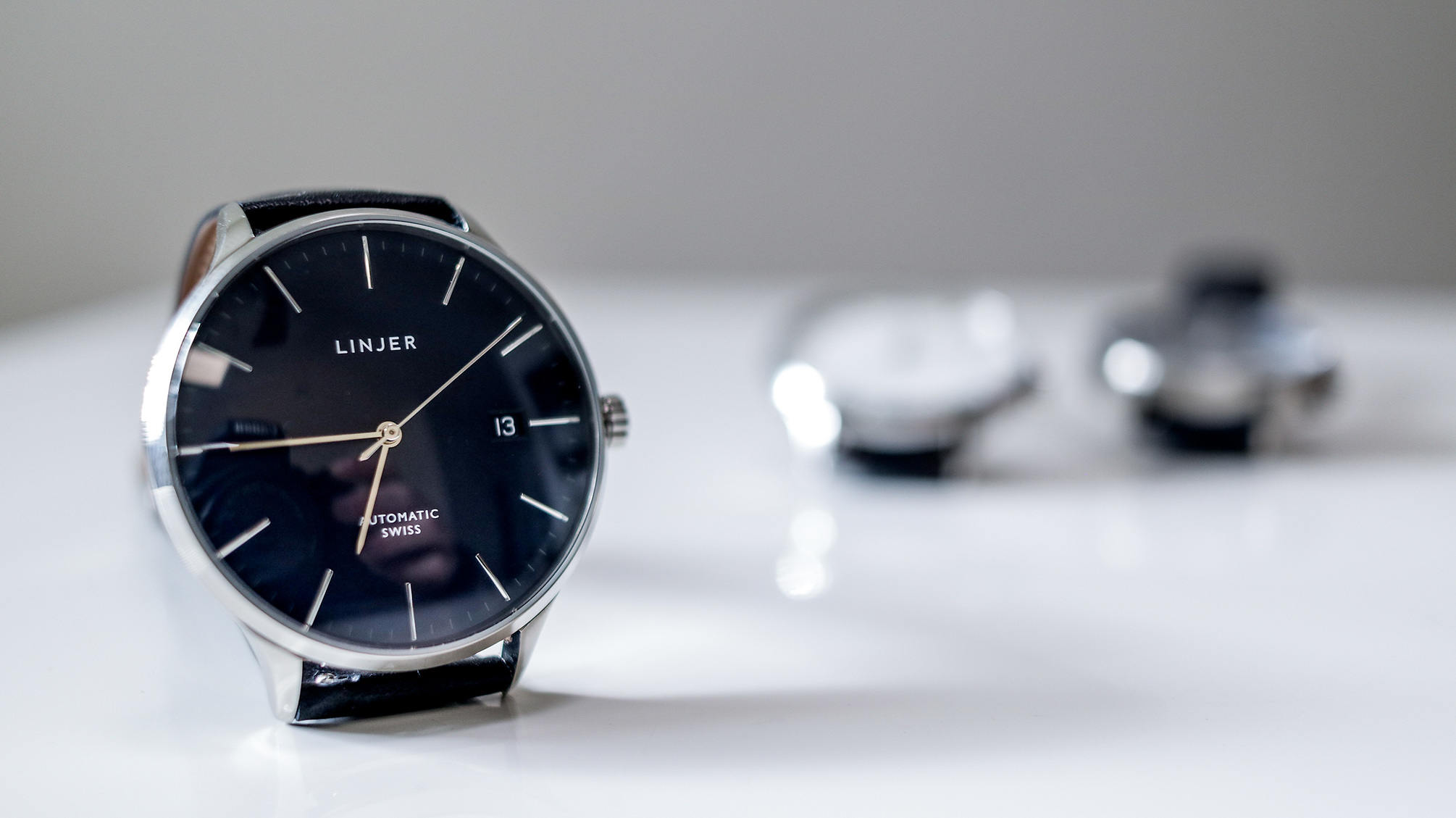 Linjer automatic watch blue
