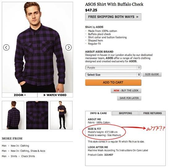 Model in size medium shirt