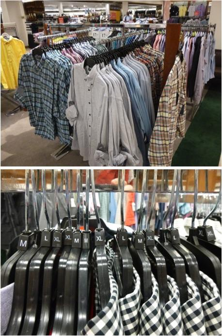 Department Store Shirt Rack