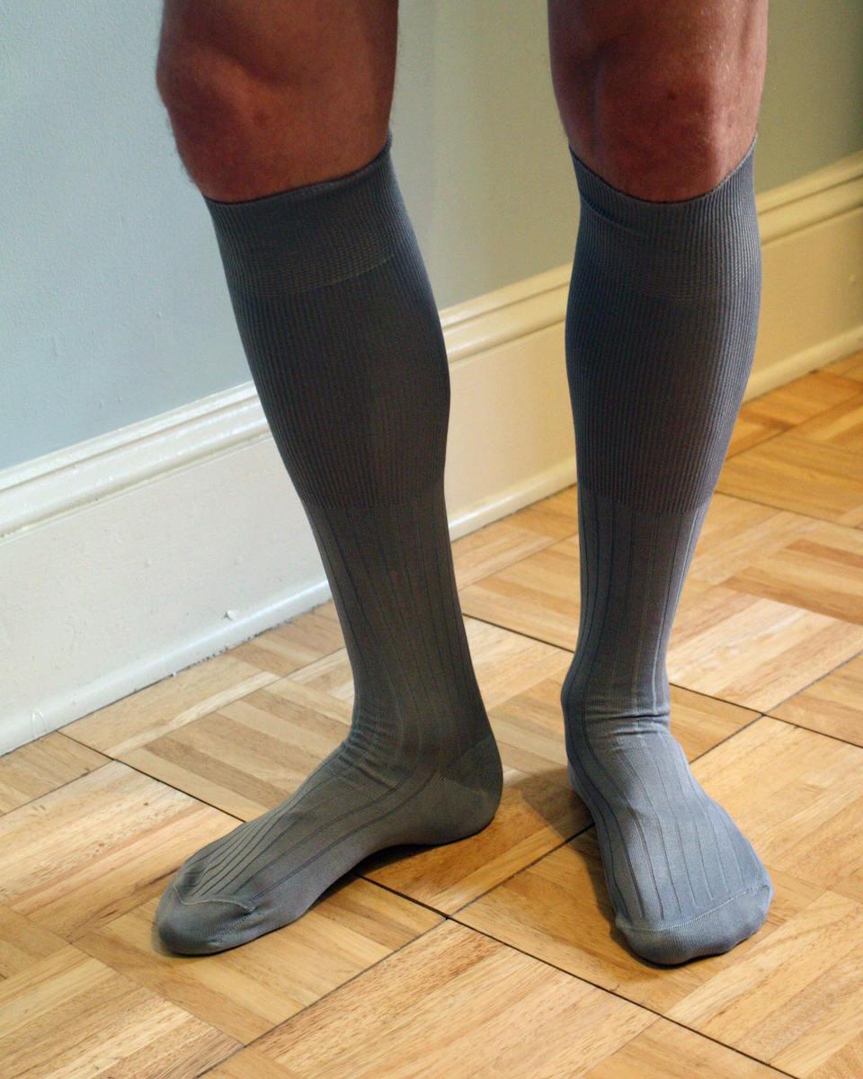 Over the calf dress socks