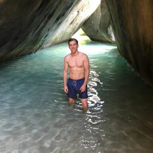 Brock at The Baths in Virgin Gorda