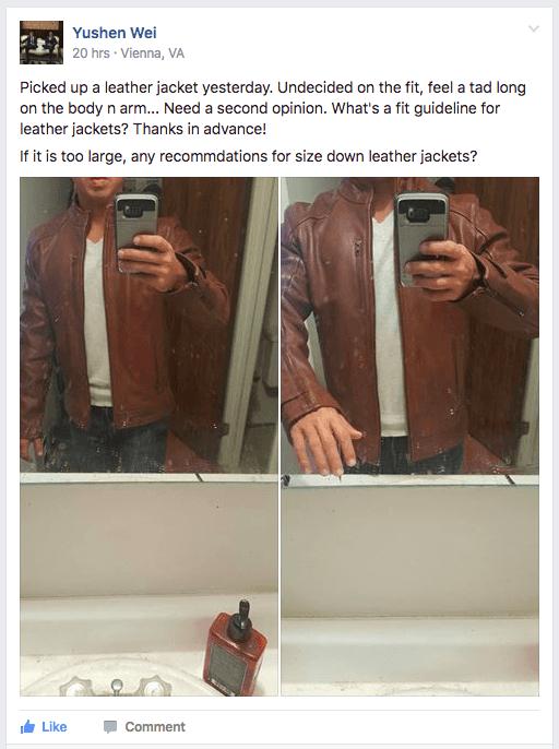 Modest Man example post