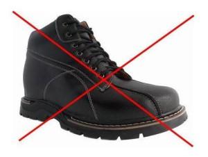 Boxy elevator shoe