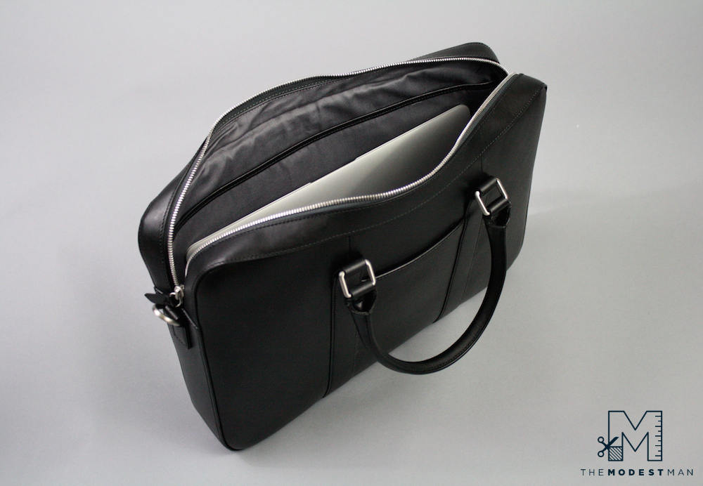 Linjer black briefcase