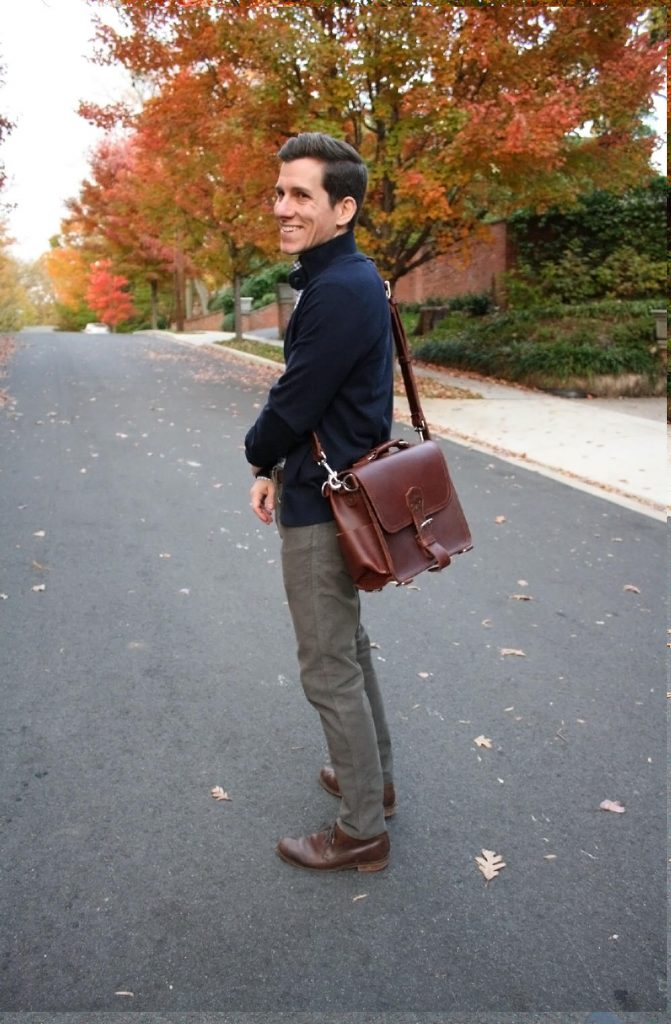 Saddleback medium satchel with strap
