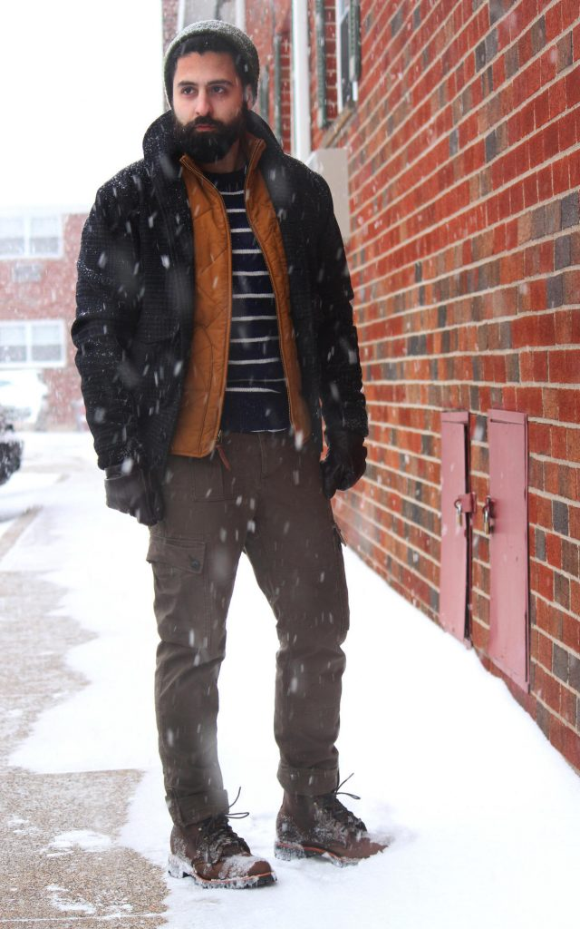 Casual cold weather layering