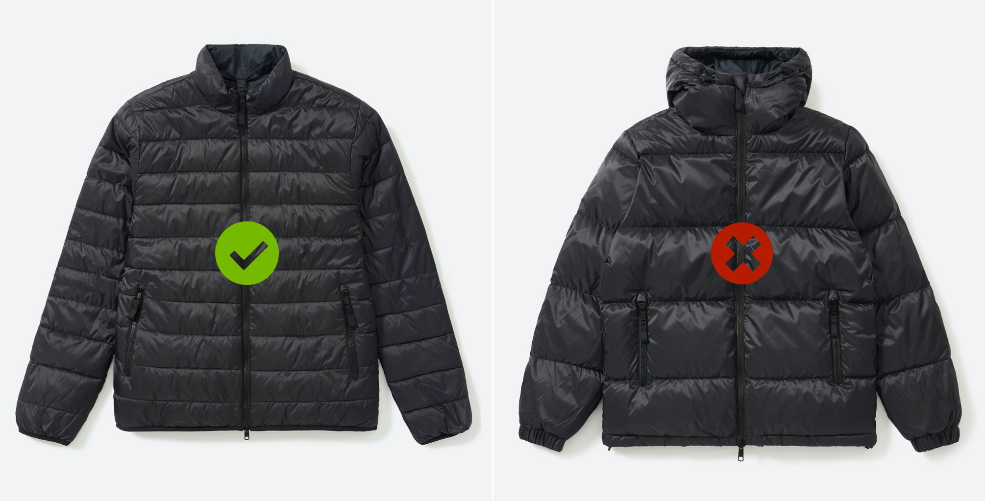 Scale of puffer jacket