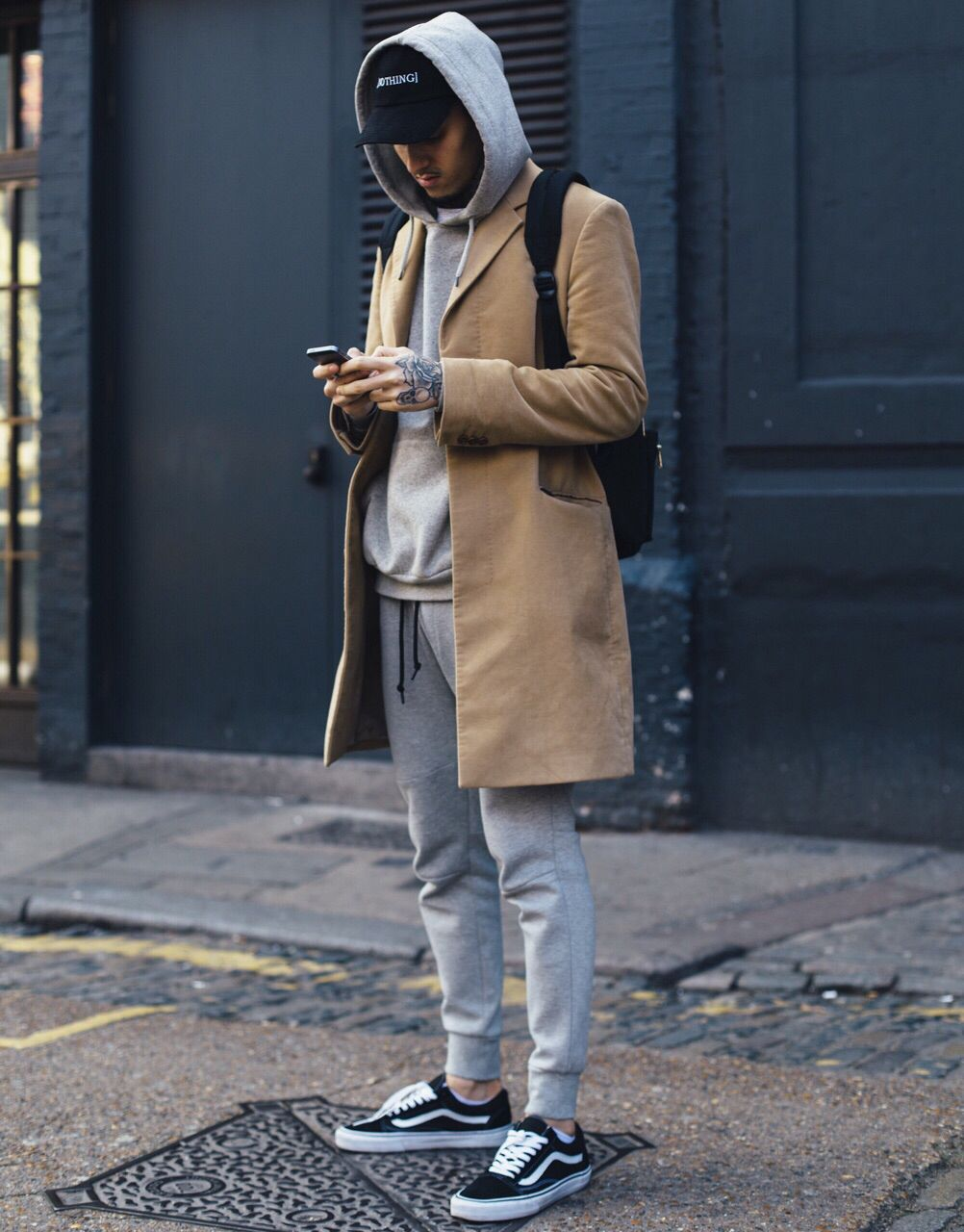Topcoat with hoodie