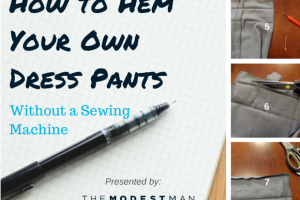 How to Hem Your Own Dress Pants
