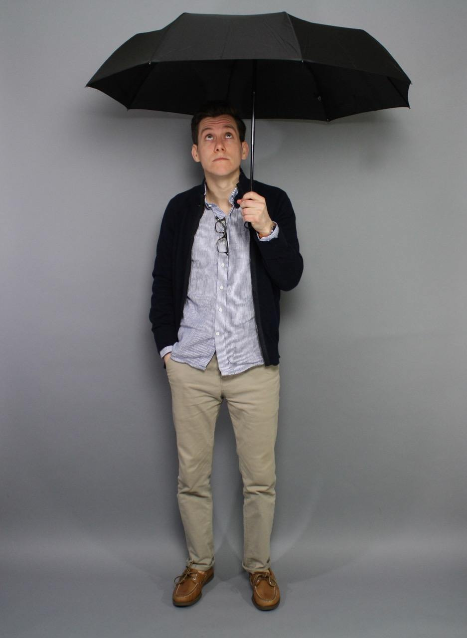 Spring casual with umbrella