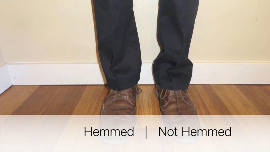 Hem vs. unhemmed pants