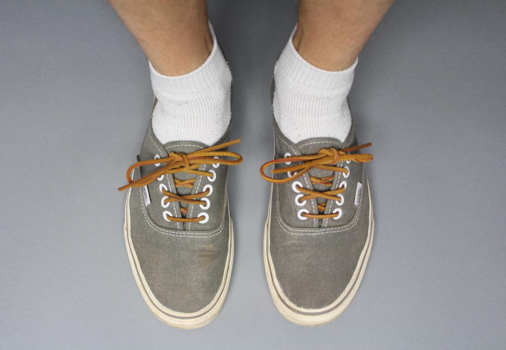 White socks with sneakers