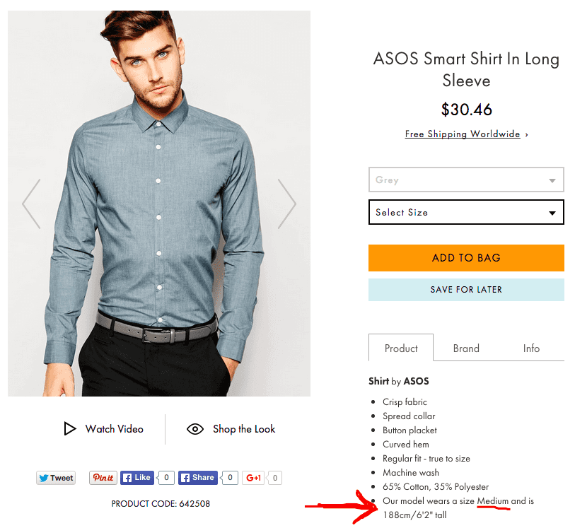ASOS medium sized shirts