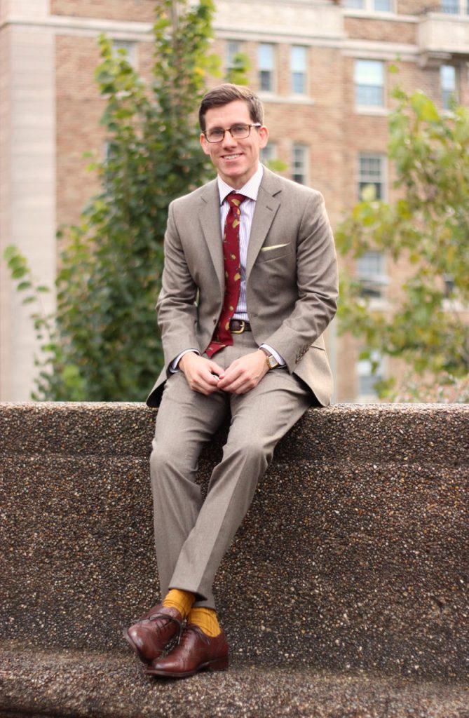 Light brown flannel suit