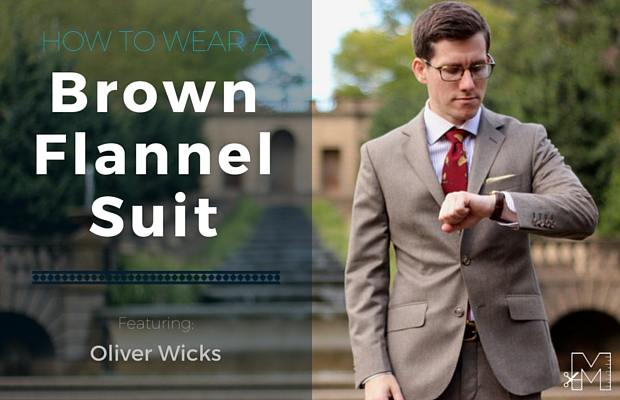 How to Wear a Brown Flannel Suit