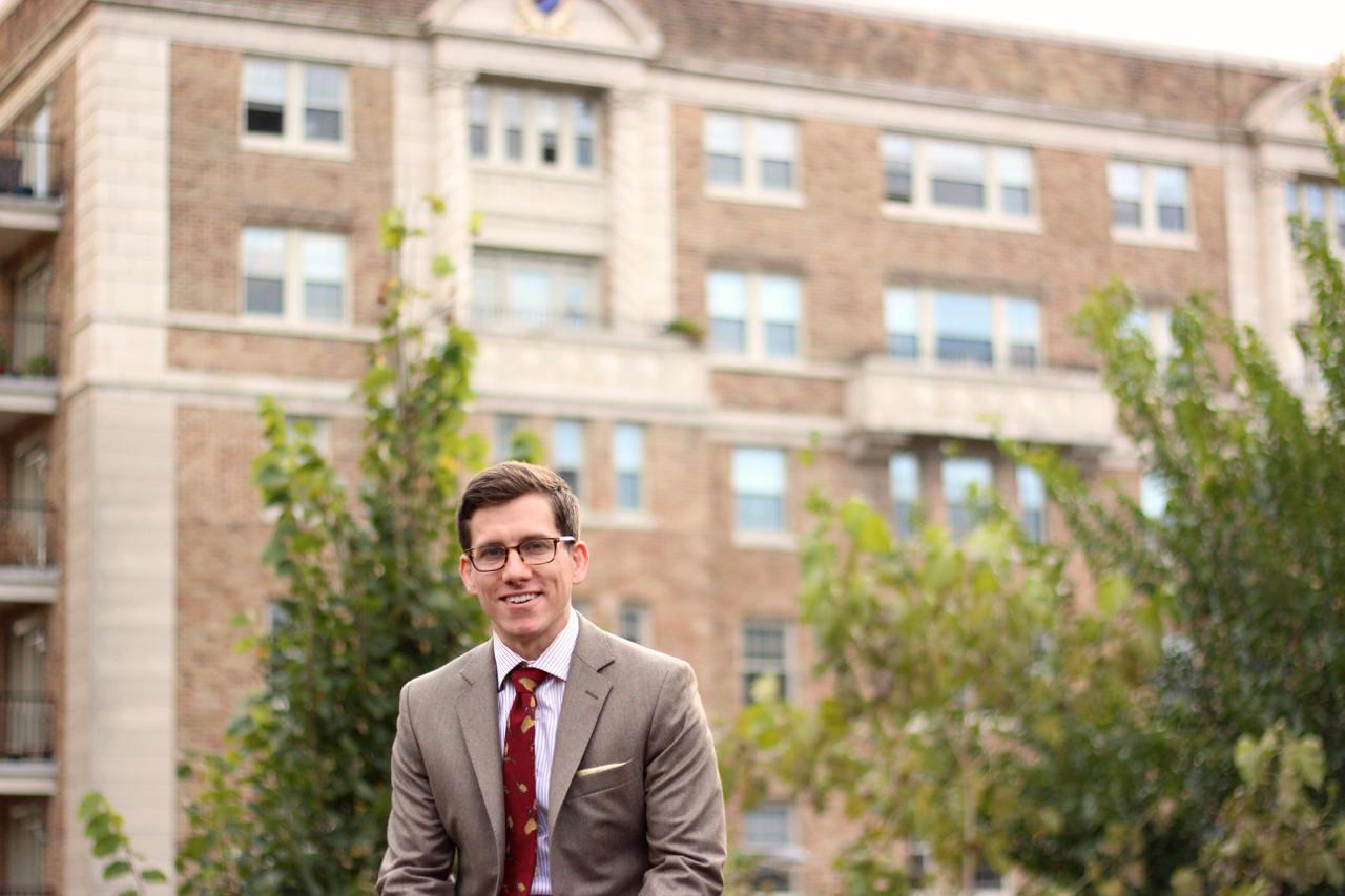 Oliver Wicks brown flannel suit