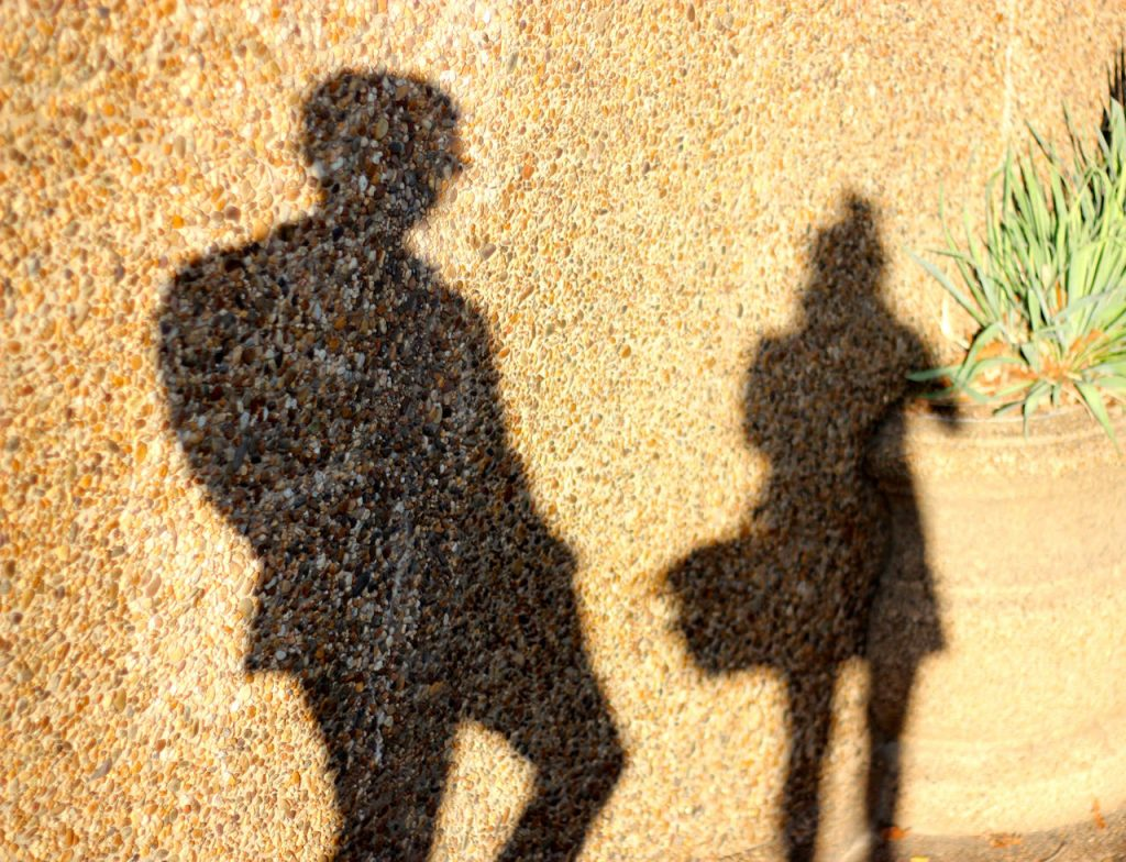 Photographer shadows