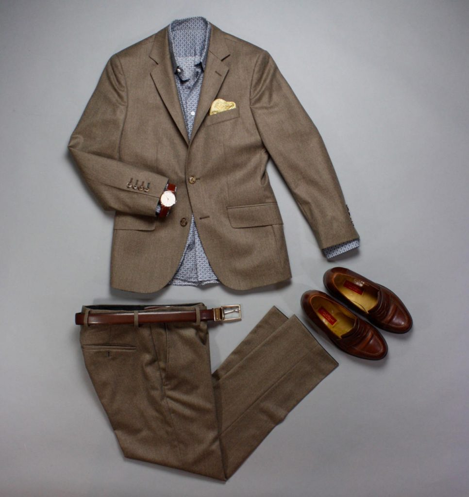 Brown leather watch dressy outfit