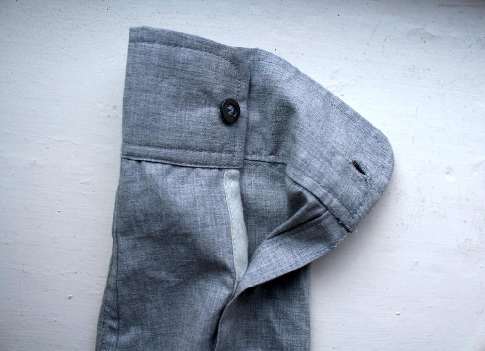 Contrast cuff fabric
