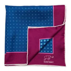 Dark Knot pocket square
