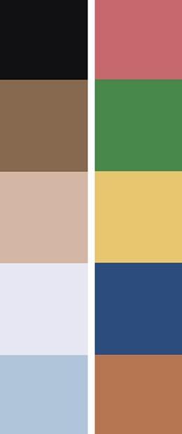 Secondary Wardrobe Colors