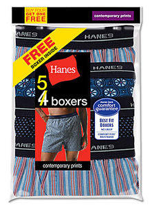 5 pack Hanes boxers