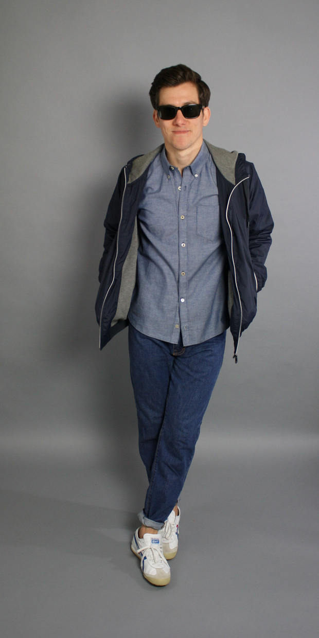 How to Wear a Blue Chambray Shirt