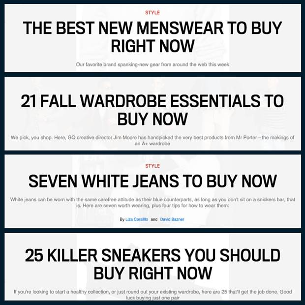 GQ buy new stuff now