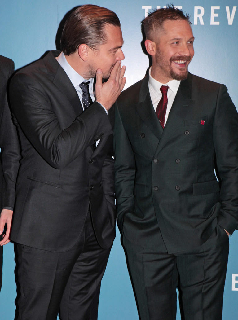 Tom Hardy double-breasted suit