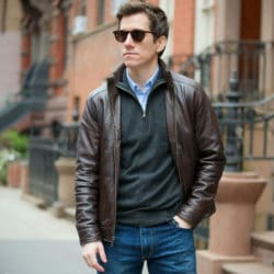 Leather jackets for short men 1