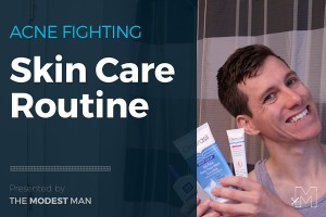 Adult acne skin care routine