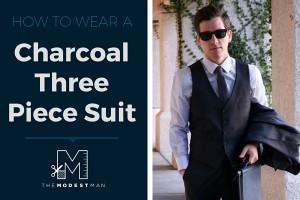 Charcoal Plaid Three Piece Suit