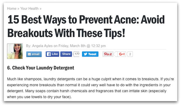 Dumb acne tips