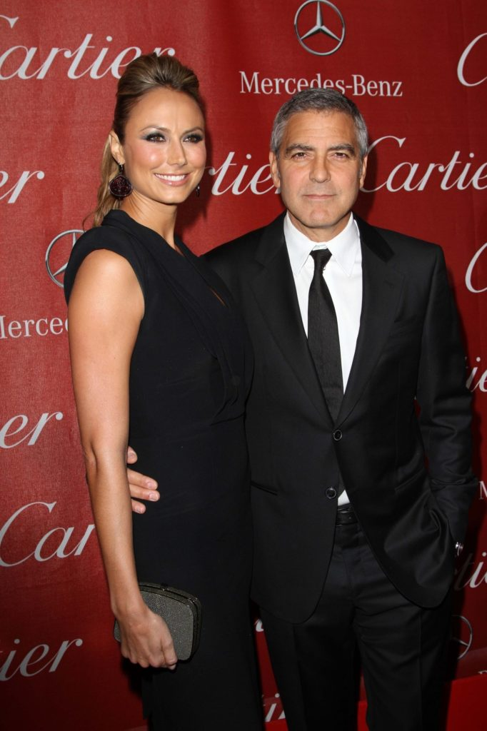 """Stacy Keibler (5'11"""") w/ George Clooney (5'10"""")"""