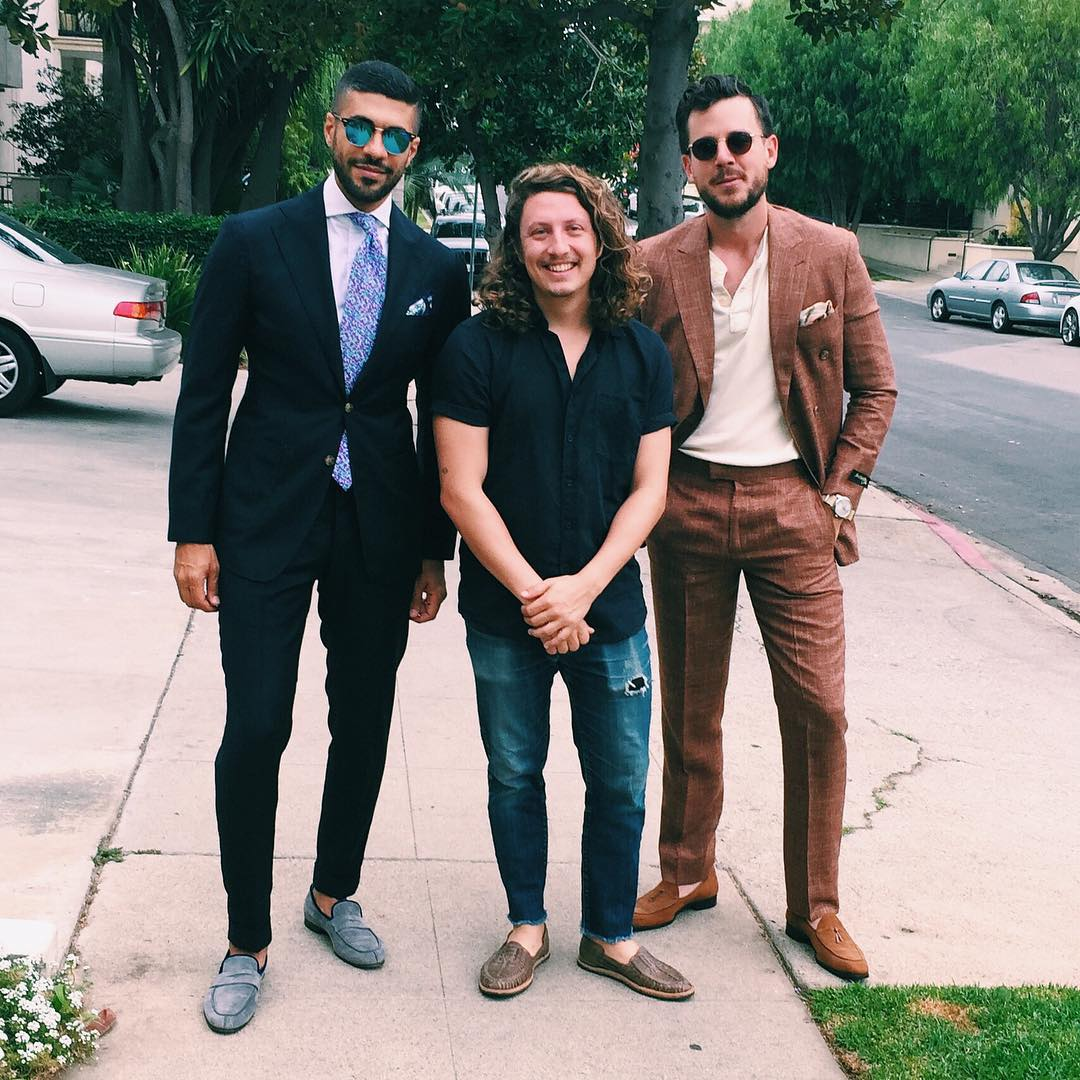 Alex with Dan and Khaled