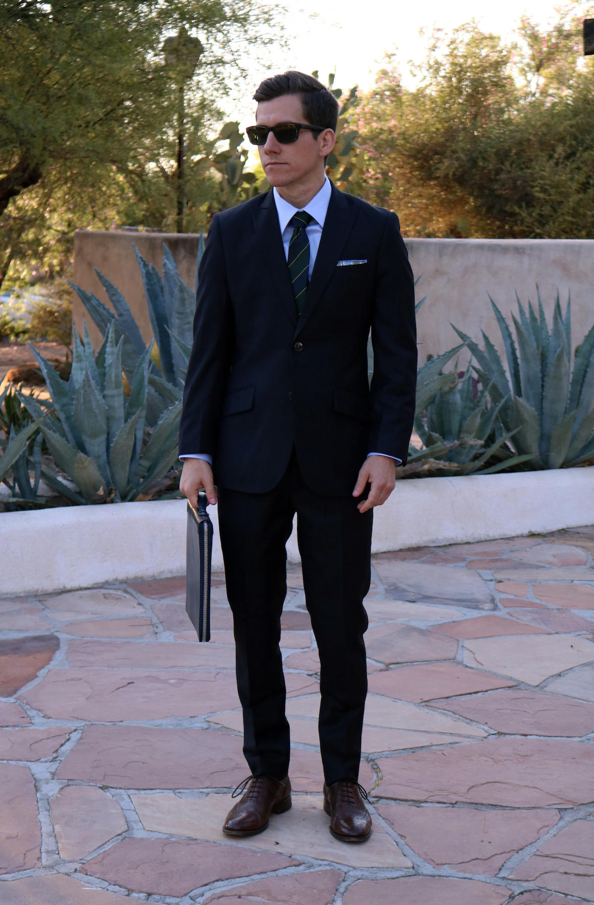 Classic Navy Pinstripe Suit