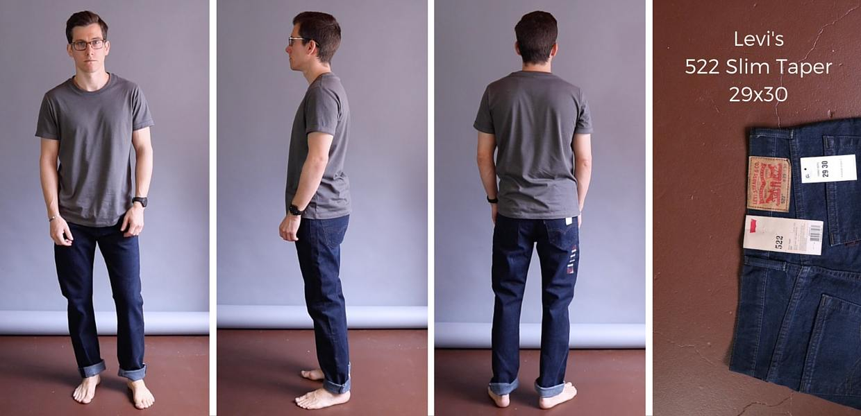 Levis 522 Slim Taper Jeans