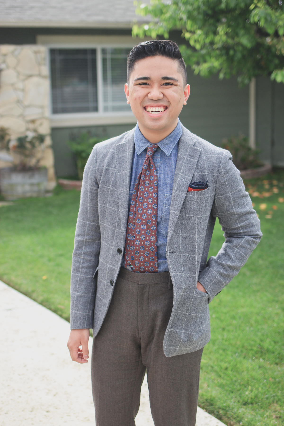 Ethan Wong odd trousers and jacket