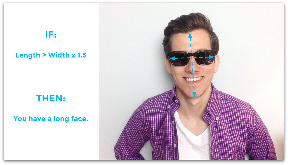 Face length formula - how to measure your face
