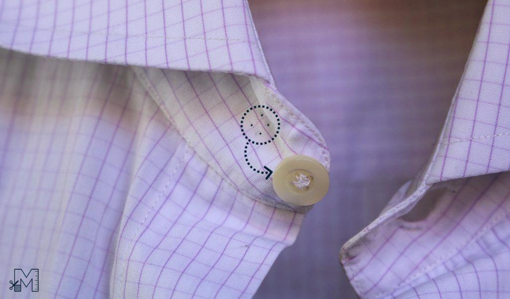 Move shirt collar button