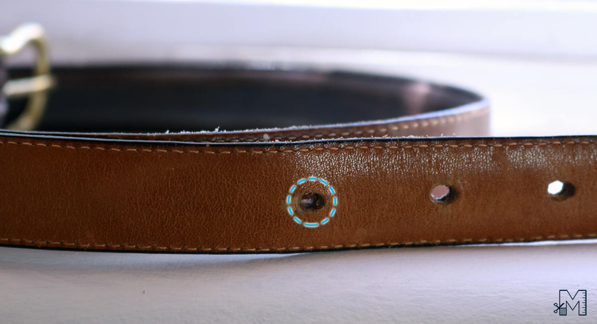 Punch extra hole in belt