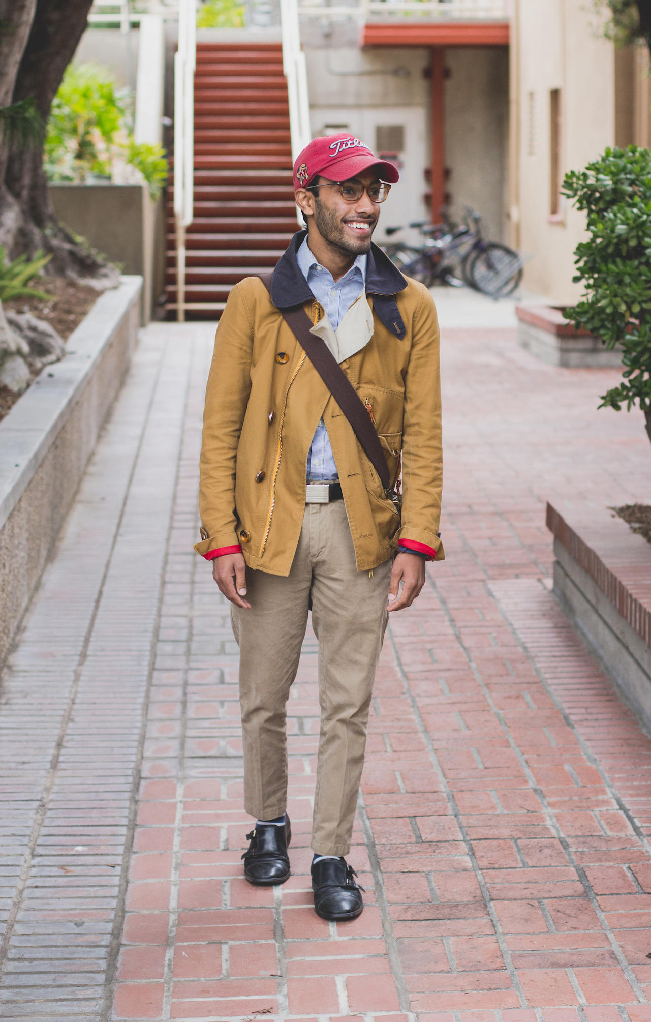 Rajesh wearing casual layers