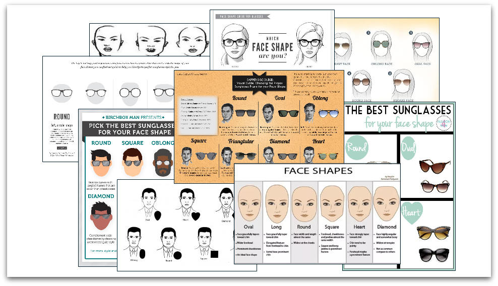 Sunglasses face shape guides
